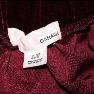 Garage Skirts - Maroon velvet skirt